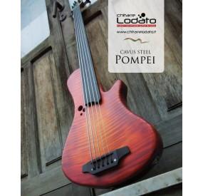 Basso Cavus Steel Fretless (Pompei 5 corde Cherry Sunburst)